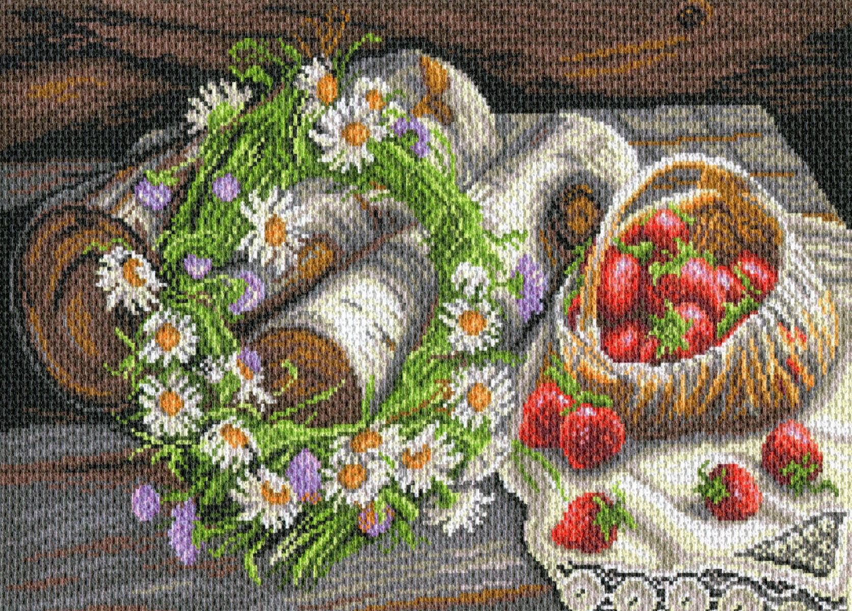 Вышивка на конве с рисунком 2