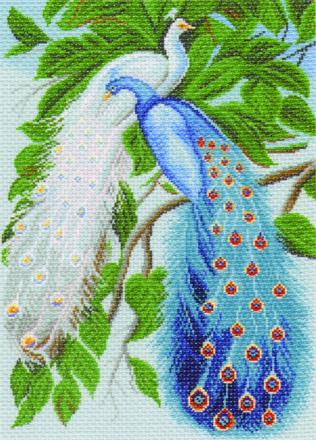 схемы вышивки птицы крупным планом